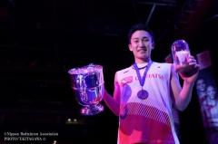 桃田贤斗夺冠创全英120年历史,奥运积分赛更有自信