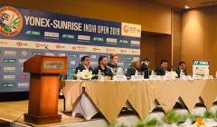 李雪芮、安赛龙出席印度公开赛记者会