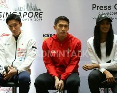 新加坡赛新闻发布会,众球星不谈比赛只赞林丹