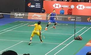 【低视角】新加坡赛,谌龙vs卡什亚普