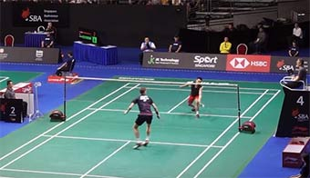 【低视角】新加坡赛林丹vs安赛龙,争议球到底出界没?