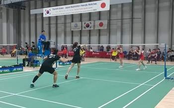 【低视角】日韩交流赛,看郑景银白荷娜如何对抗日本女双?