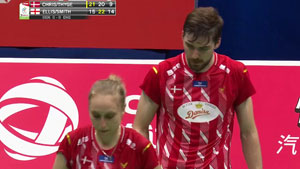 M·埃利斯/L.史密斯VS克里斯蒂安森/蒂格森 2019苏迪曼杯 混合团体小组赛视频