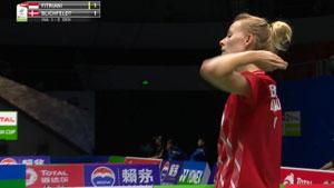 米娅VS菲特安妮 2019苏迪曼杯 混合团体小组赛视频