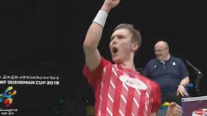 安赛龙VS谌龙 2019苏迪曼杯 混合团体1/4决赛视频