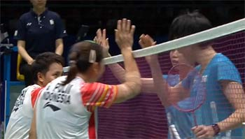 波莉/拉哈尤VS白馭珀/吳玓蓉 2019蘇迪曼杯 混合團體1/4決賽視頻