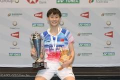 国羽2金收官!陈雨菲21-3碾压奥原夺冠丨澳洲赛决赛