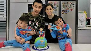李宗伟享受家庭生活与儿子共渡父亲节!