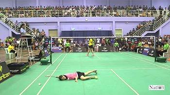 【低视角】泰国大学运动会女单决赛:因达农vs布桑兰