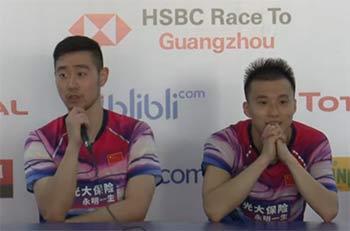一轮游表情凝重,刘成:今年世锦赛仍和张楠搭档参赛