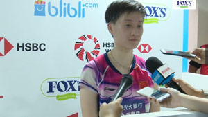 陳雨菲:速度進攻不足 辛德胡發揮很好