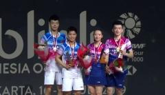 國羽混雙包攬金銀,周天成男單封王丨印尼賽決賽