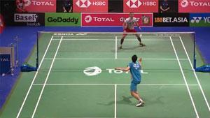 周天成VS维汀哈斯 2019羽毛球世锦赛 男单资格赛视频
