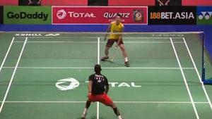 普拉诺VS林丹 2019羽毛球世锦赛 男单1/16决赛视频