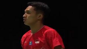 乔纳坦VS许侊熙 2019羽毛球世锦赛 男单1/16决赛视频