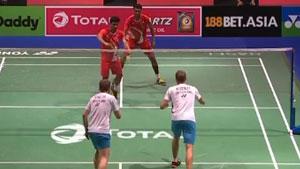 M.R. Arjun/沙尔洛VS托比亚斯/夏勒 2019羽毛球世锦赛 男双资格赛视频