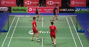 李俊慧/刘雨辰VS刘成/张楠 2019羽毛球世锦赛 男双1/4决赛视频