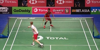安德斯·安东森VS谌龙 2019羽毛球世锦赛 男单1/4决赛视频