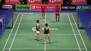福岛由纪/广田彩花VS杜玥/李茵晖 2019羽毛球世锦赛 女双半决赛视频