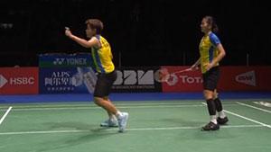 松本麻佑/永原和可那VS波莉/拉哈尤 2019羽毛球世锦赛 女双半决赛视频