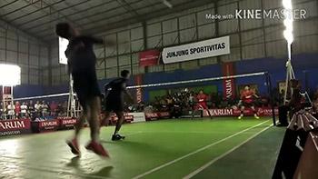 印尼业余男双比赛,大家看看这水平如何?