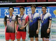 高成炫/申白喆第4次夺得全国冠军,李龙大/催率圭摘亚