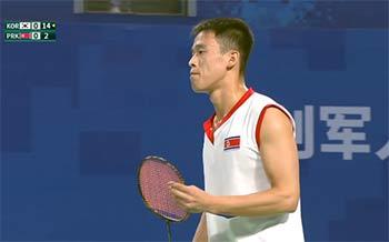 神秘的朝鲜羽毛球水平如何?看看军运会今天的比赛