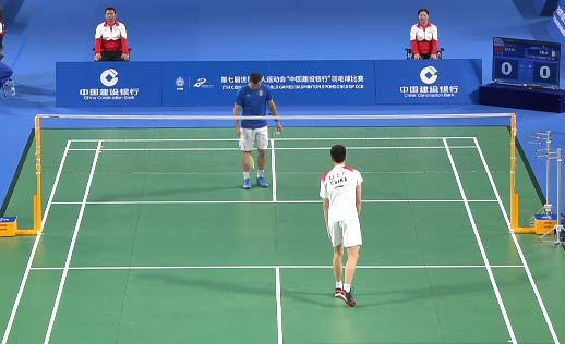軍運會男團小組賽:李詩灃2-0孔多米內斯