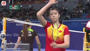 军运会女单小组赛视频:李雪芮2-0米克萨