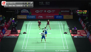 郑思维/黄雅琼VS塞德尔/琳达 2019中国福州羽毛球公开赛 混双1/16决赛视频