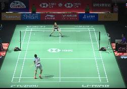 大堀彩VS韩悦 2019中国福州羽毛球公开赛 女单1/16决赛视频