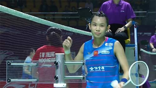 戴资颖VS玛莉丝卡 2019中国福州羽毛球公开赛 女单1/8决赛视频