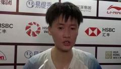 陈雨菲:对手给我很大压力,和奥原的比赛看发挥