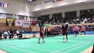 见过桃田贤斗打男双比赛吗?这水平不低!