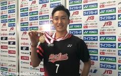 桃田未丟一局強勢奪冠,大堀彩單局僅得4分丨全日本錦標賽決賽