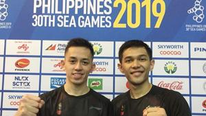 法加尔/阿德里安托VS博丁/玛尼蓬 2019东南亚运动会 男团半决赛视频