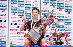 成功卫冕全日锦标赛冠军,桃田发文致谢球迷