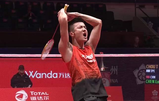 谌龙2-0周天成精彩集锦,赢球后霸气怒吼!