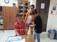 蘇卡穆約等選手接種小兒麻痹癥疫苗