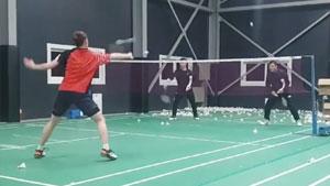 韩国女双训练 网前极限防守这速度看呆了!