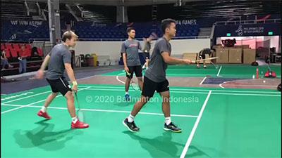 印尼男團今日3V3訓練,沖擊亞洲團體賽冠軍