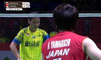 山口茜VS玛丽斯卡 2020亚洲团体锦标赛 女团1/4决赛视频