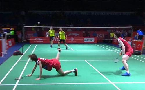 女团1/4决赛最佳球:油菜花女双最强防守名不虚传