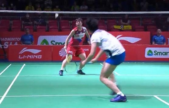 山口茜VS安洗莹 2020亚洲团体锦标赛 女团决赛一分6合视频