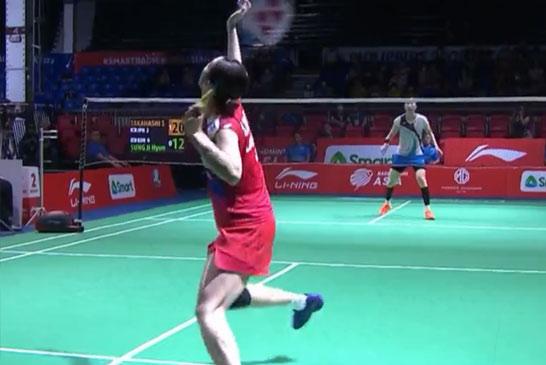 高桥沙也加VS成池铉 2020亚洲团体锦标赛 女团决赛一分6合视频