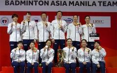 山口茜油菜花獲勝 日本3-0韓國奪冠丨亞洲女團決賽