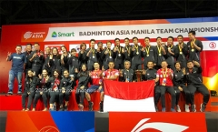 乔纳坦手握3赛点遭逆转 印尼3-1大马夺冠丨亚洲男团决赛