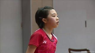 全日本小学生女单决赛,长的没球网高打得有模有样!