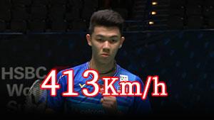 李梓嘉杀出413Km/h球速!2局完胜乔纳坦集锦