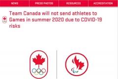 加拿大退出东京奥运 李文珊无缘奥运